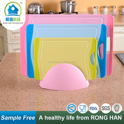 antibacterial non slip plastic three pieces/set best type of cutting board chopping board manufacturer