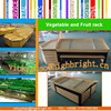 China factory machinery pine wood display rack and shelf for fruits and vegetables