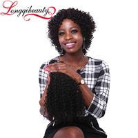 100% Brazilain Virgin Hair Natural Cheap Afro Kinky Curly Box Braid Wig