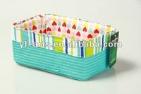 cheap paper straw colour household rectangle storage boxs