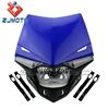 ZJMOTO H4 12V, 35/35W Universal LED Motorcross MX ENDURO Dirt Trail Bike 250cc Head Lamp Headlight For Motorcycle