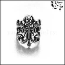 Factory direct wholesale Europe Style Punk Finger Ring handmade men rings with 316L stainmless steel