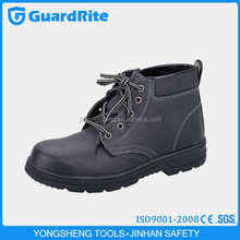GuardRite leather safety shoes with steel toe and platechina leather cheap safety shoes