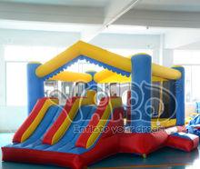 Casa inflable de la despedida del PVC de la fiesta de cumpleaños con la diapositiva dual, UL de ASTM F963,mini gorila