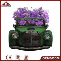 solar resin car garden planter, car flowerpot