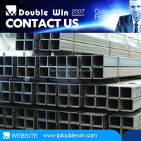 Oil Coated Black Hollow Square Section Steel Pipe Metal Building Materials