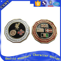 Wholesale Custom cheap custom army metal challenge token coin