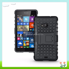 High Impact TPU+PC Stand Cell Phone Case For Nokia For Lumia 535 Combo Phone Cover