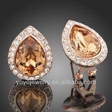 2014 hodium plated 925 sterling silver antique for girls fashion jewelry stud earring
