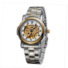 2014 OUYAWEI Luxury Automatic Watches Men Skeleton Visible Movement Mechanical Watch