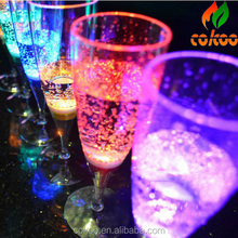 High Quality Flashing Champagne Glass LED Party And Special Event Champagne Flutes Cheap Wholesale