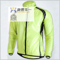 Windproof and waterproof rain transparent bicycle jacket