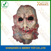 X-MERRY horrible Zombie Latex Face Mask & sewn mouth zombie mask &
