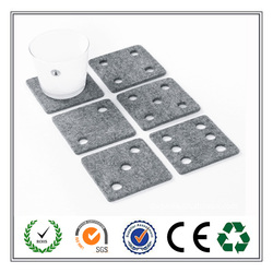 square felt coaster hollow out as dice new products