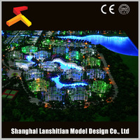 Architectural scale models figures, Phuket Island planning model with beautiful lighting