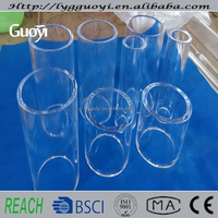 High temperature resistant clear smoked quartz glass tube for smoking machine