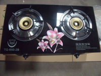gas stove 2 burner glass table gas cooker India