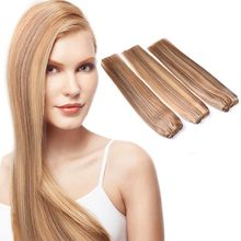 Pre-braided Marly Weft Hair Indian Remy Hair, Wholesale Pure Indian Virgin Human Hair Weft