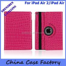 Full Crocodile Embossed Leather Case For iPad Air 2/iPad 6