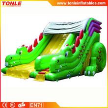 Lovely Green Dragon Slip Inflatable Slide for child