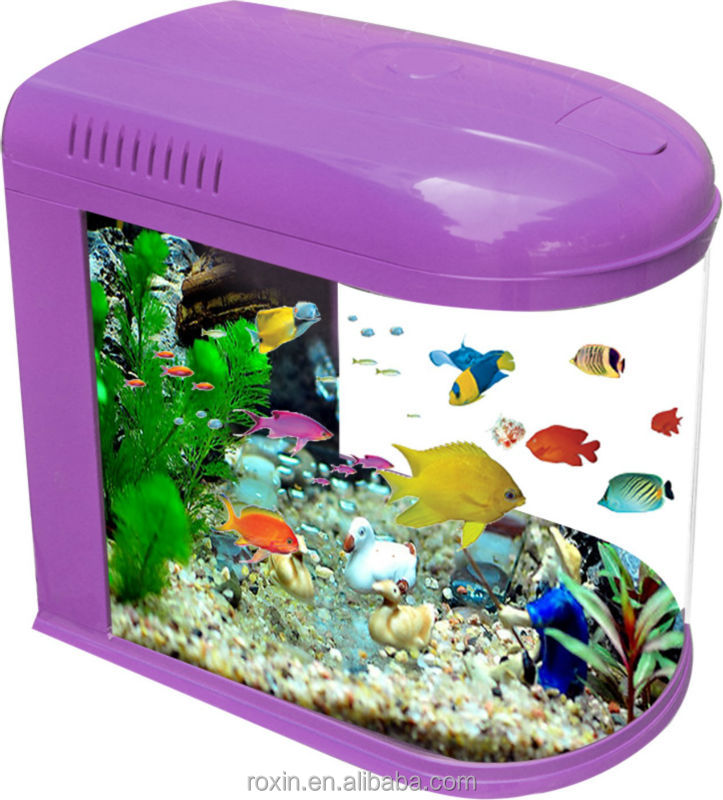 fashion glass bullet aquarium fish tank for guppy fish