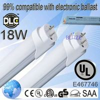 99% compatible with electronic ballasts top quality t8 free japanese red tube 6 100-277V UL DLC