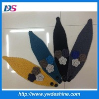Latest designs fashion handcraft knit wool head band wholesale TS-204