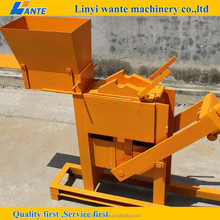 QMR2-40 small manual compressed interlocking clay brick making machinery to make money