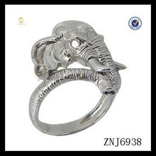 New fashion Elephant Face Sterling silver Ring suitable for Adult finger