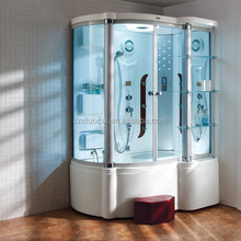 Comfortable Computer Control China Aqua Glass Steam Shower Room with Tub (DQ-F8803)