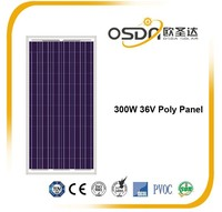 300W Poly crystalline PV module for solar power system