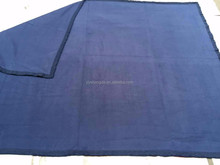 recycled military blanket for prison regenerate prison blanket in navy blue
