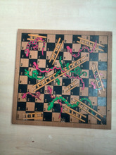 Wood snake and ladder board game Wood Ludo Snake and Ladder Board Game