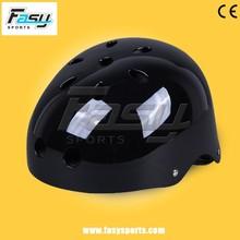 Fasy bright black abs shell cheap plastic helmet