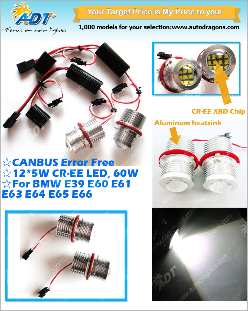 Headlight E39 120w Angel Eyes Led Marker For Bmw E87 E60