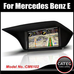 "OEM 7"" in dash double din auto fm radio dvd gps navigation bluetooth touch screen head unit for mercedes benz E220 CDI"