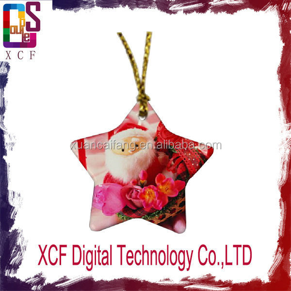 sublimation christmas tree ornament christmas tree decoration ...