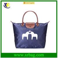 Custom new waterproof nylon folding tote shopping bags