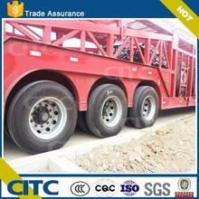 CITC high quality 3 axles lowbed semi trailer car transport semi trailer for sale