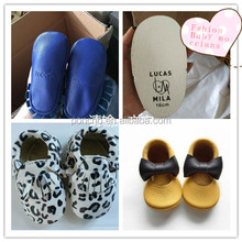Fashion soft sole 100% leather bowknot baby shoes leather kids shoes baby moccasins shoes for girls