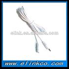 3.5x1.35mm dc cabo branco macho para fêmea para a iluminação led