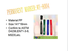 WY-8004 Ningbo Jumbo non-xylene permanent color skin marker pen with indelible