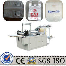 Auto t-shirt plastic bag making machine