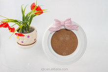 round wooden picture photo frame
