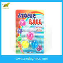 Colorful TPR special Atomic shape soft mini bouncing Balls (dia: 2.7cm) YX000540
