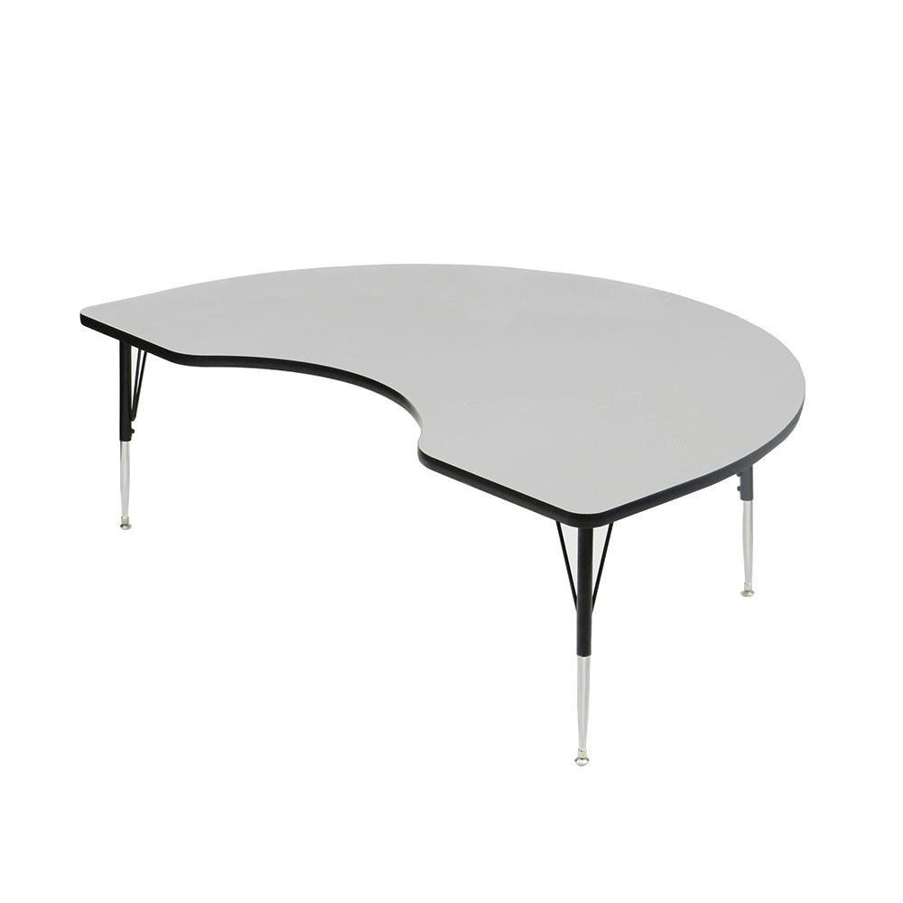 48quot X 72quot Gray Adjustable Height Kidney Folding Table  : 48 x 72 Gray Adjustable Height Kidney from alibaba.com size 1000 x 1000 jpeg 31kB