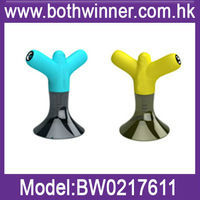 2012 newest design rabbit ears silicone horn megaphone stand for i phone 4