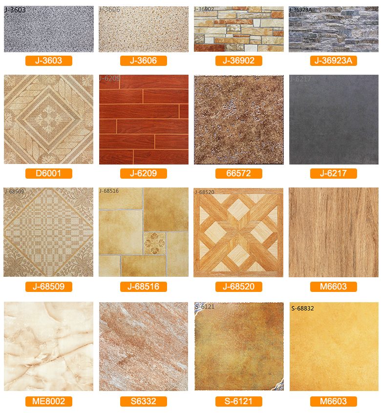 Wood grain ceramic tiles