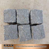 G399 black galaxy granite paving granite curbing granite paving stone