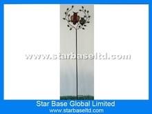 Custom metal art owl garden stick decoration